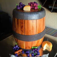 Wine Barrel Cake Wine Barrel cake for a birthday