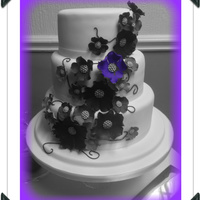 Purple Bloom Roses cascading with black swirls