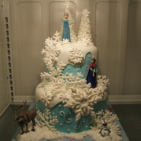 Frozen   Buttercream, Royal piped Snowflakes, Fondant