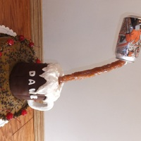 Gravity Defying Root Beer Mug Cake  Gravity Defying Root Beer Birthday Cake for my Root Beer lovin' husband: Cake is Root Beer Float with Root Beer whipped cream...