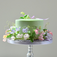Cake With Sweet Pea cake with sweet pea