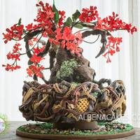 "Japanese Quince - Bonsai - Gardens Of The World Cake Collaboration Happy to share with all of you the cake I created for this amazing collaboration. Gardens of the World is a ""Chelsea Flower Show&quot..."