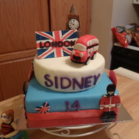 England, Birthday my daughter loves London (the idea of it...never been there); this is her 14th birthday cake
