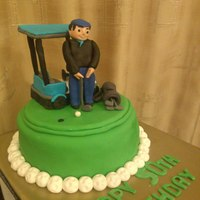 Golf Themed Cake This is my first standing figure and golf theme cake completely hand sculpted... pls give feedback