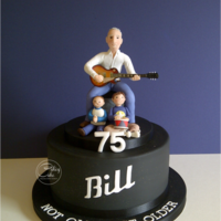 "Still Rockin' Bill is a blues man and I wanted to provide him with a 'stage', so kept this 8"" zingy lemon cake in simple matt black so the..."