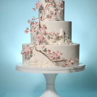 Dc Wedding Cake Inspired by the city's cherry blossoms for a friend's wedding.