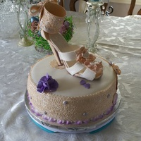 Bridal Shower   Shoe bridal shower cake