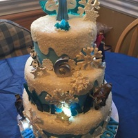Frozen Cake I made this cake for my Granddaughter's 6th birthday. She loves the movie Frozen!