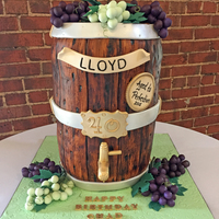 40Th Birthday Wine Barrel Cake This was a surprise 40th birthday wine barrel cake. I did ask for some advice on this cake in the forums so for those interested: -This...