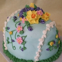 Easter Cake All butter cream flowers decorate this Easter cake