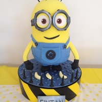 "Dave The Minion - 15"" Tall White Chocolate Mud Cake This is Dave the Minion - my son's favourite Despicable Me character. It also had to be gluten free as my daughter is Coeliac. This is..."