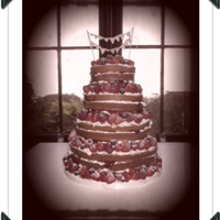 Summer Fruits A simple naked wedding cake