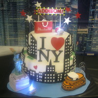 I Love New York This cake was made for my 8 yr. old granddaughter who had just visited NY a couple of weeks before her birthday.