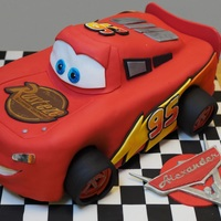 Birthday Cake Another Lightening McQueen cake...... :) This one for my son's 4th birthday. Chocolate layer cake with chocolate frosting. Followed...
