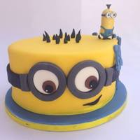 Minion I made this Minion themed cake for a friend's daughter who was turning 10 and had a Despicable Me party