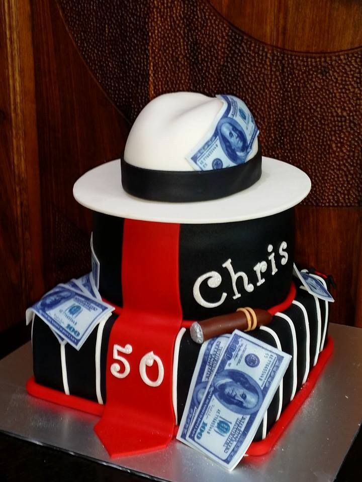 Mafia Birthday Cake - Unique Cakes   All made from fondant and gumpaste.
