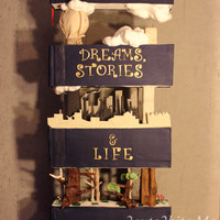 """dreams,stories & Life"" Entry- Cake Show Istanbul 2015  Decorative Design Category EntryHeight is 90cm.And now it sits on my bookshelf ;DInspired by Corey R. Tabor's illustration..."