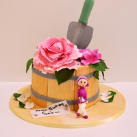 Peony Pot Plant Cake Made this cake for a beautiful lady who loves gardening and fuchsia color…
