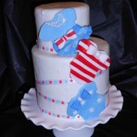 4Th Of July Baby Show Theme Reveal Cake Small Reveal 4th of july theme cake Oh Boy was she sweet ;)