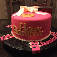 Birthday Cake For 15 Year Old Pink and black