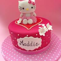 Hello Kitty Hello Kitty was made using the Royal Bakery tutorial. The cake itself was chocolate fudge with a strawberry Italian meringue buttercream...