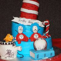 Thing 1 And Thing2 What a fun cake for a set of twins. All edible cake