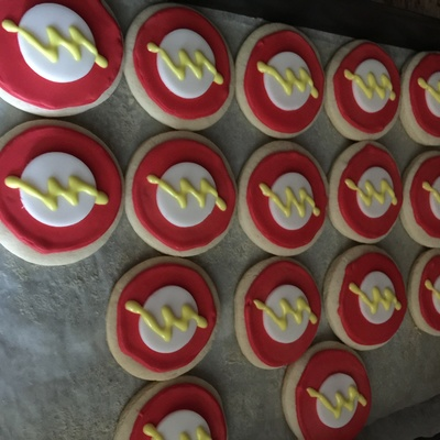 The Flash Cookies (Superhero Cookies) on Cake Central