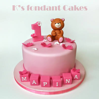 Forever Friends Teddy Bear Cake & Butterflies
