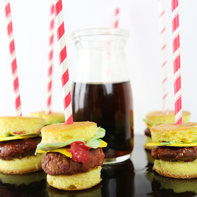 Fun And Festive Burger Cake Pops