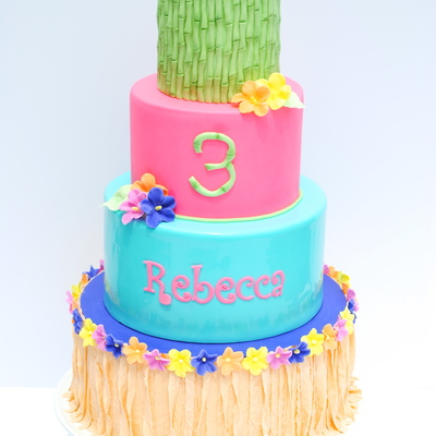 Hawaiian Luau Birthday Cake