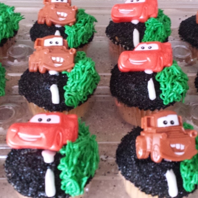 Disney Cars Themed Cupcake