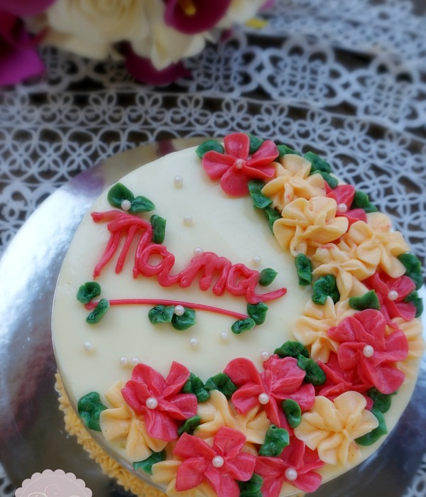Tutorial Mother's Day Simple Butter Cream Cake