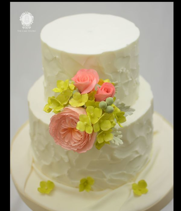 Rustic Buttercream With Sugar Flowers