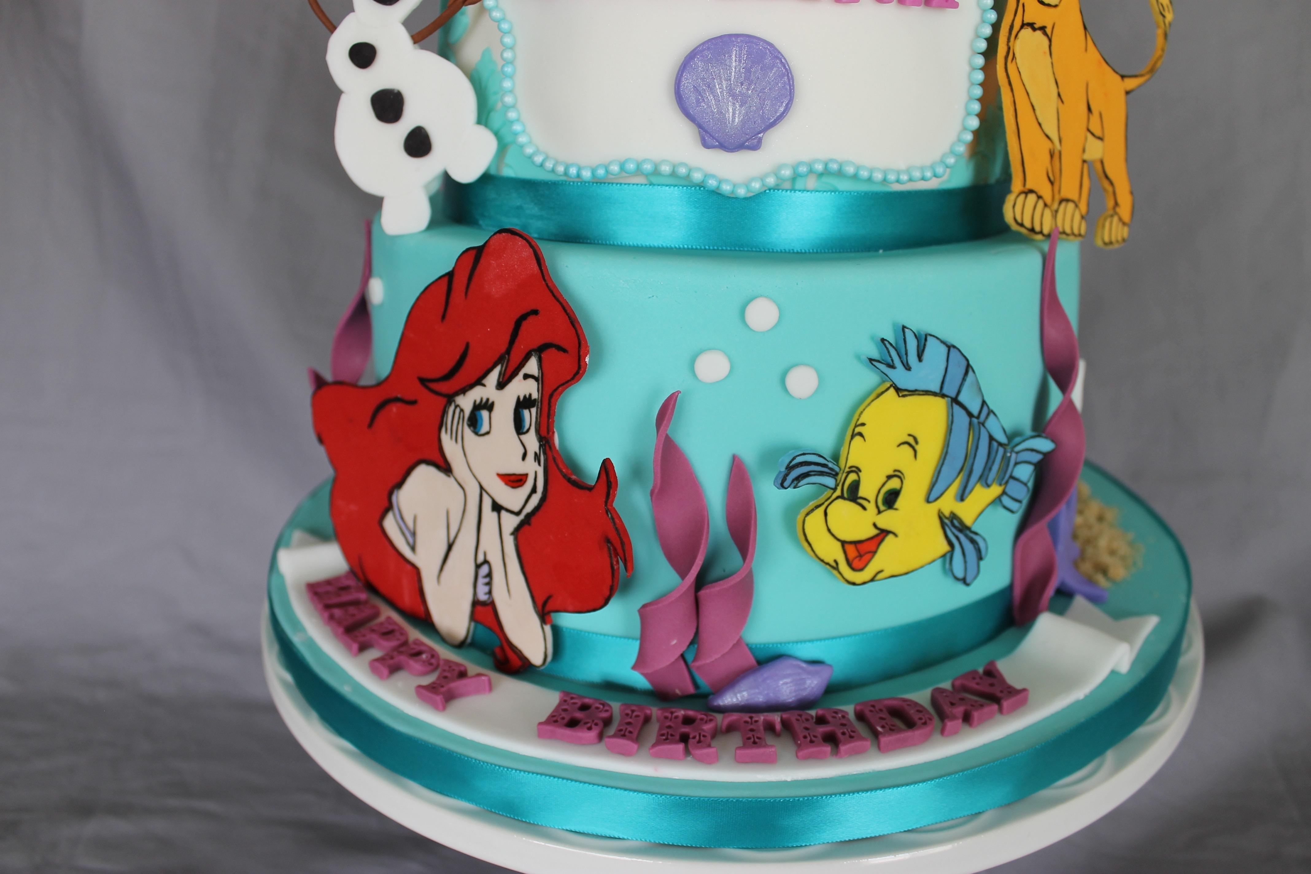 Disney Themed Birthday Cake CakeCentralcom