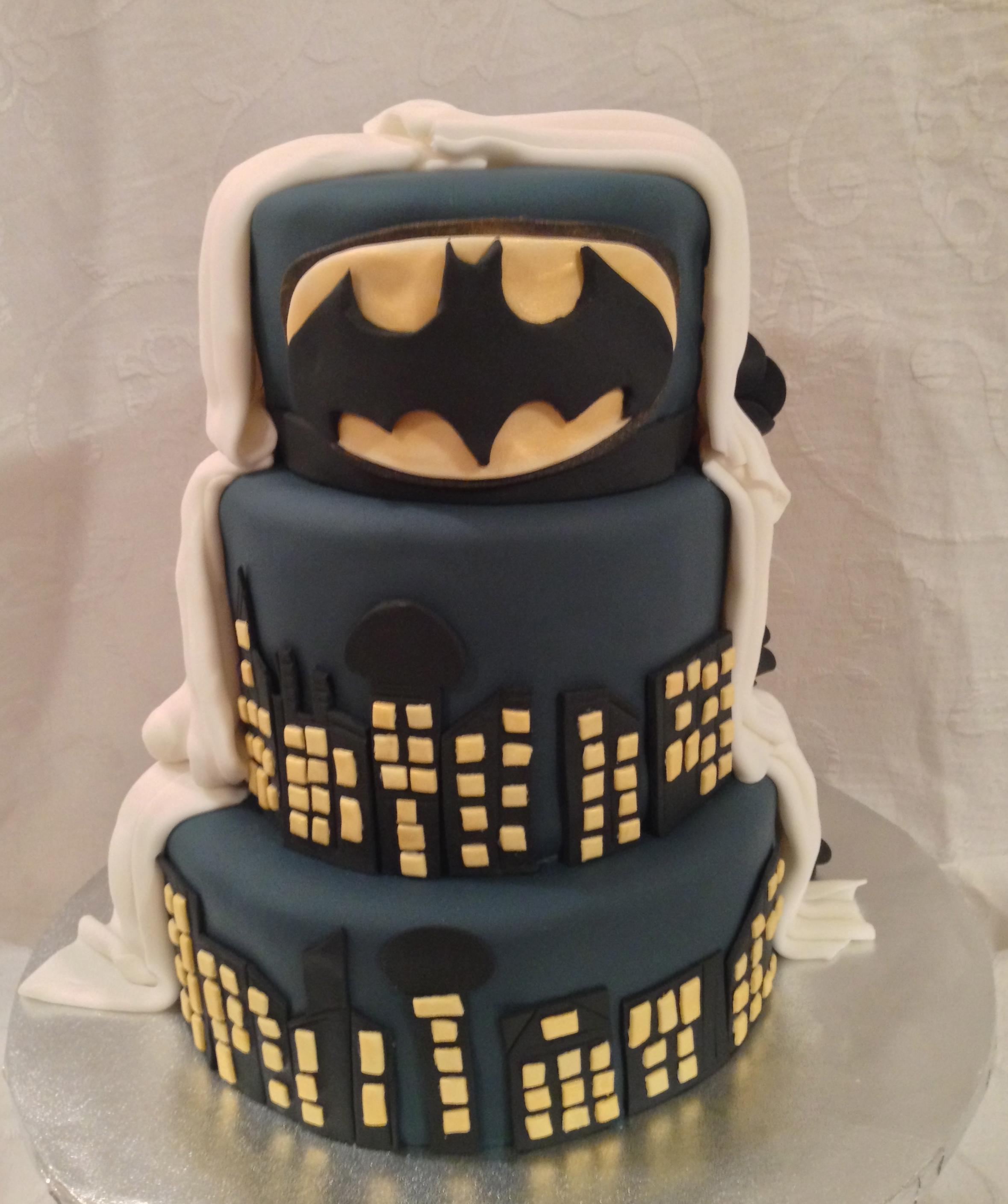 Batman Wedding Cake CakeCentralcom
