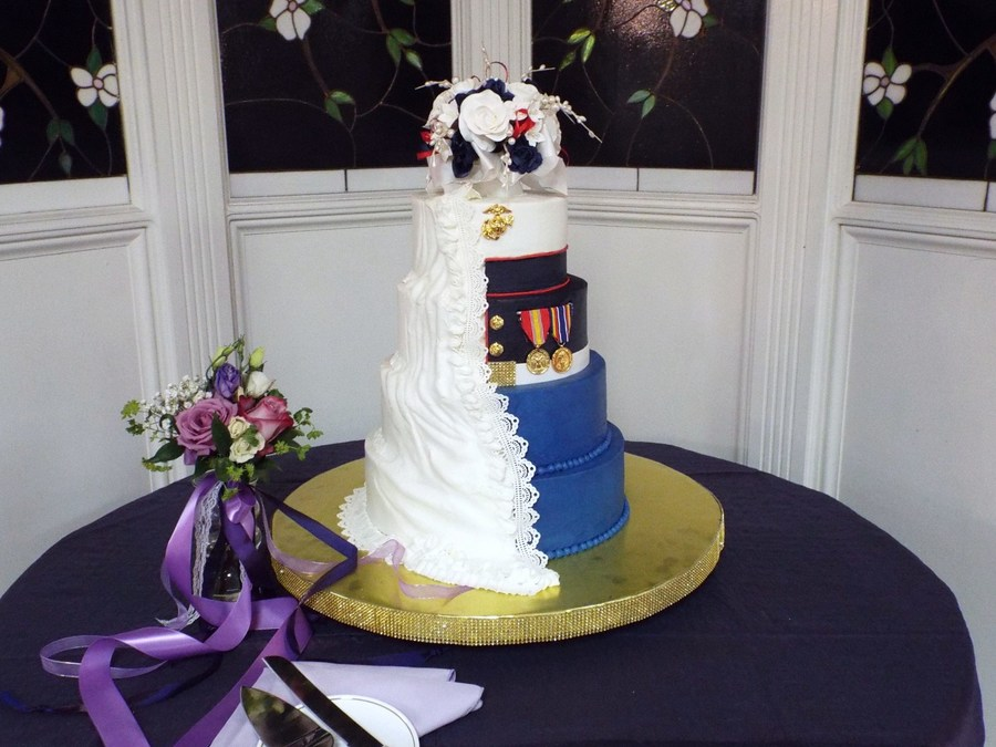 marine wedding cake memorial day wedding marine dress blues cakecentral 17135