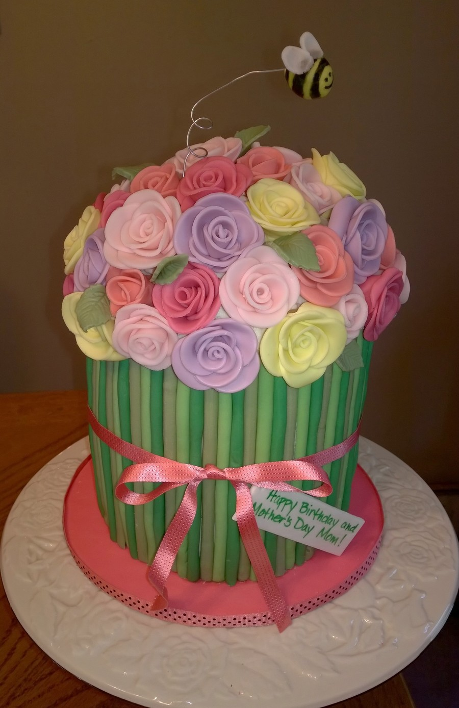 Bouquet Of Flowers Cake - CakeCentral.com