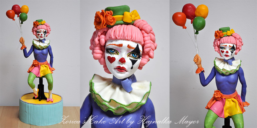 Sad Clown Topper on Cake Central