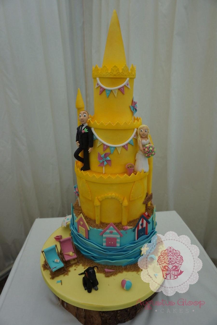 Sandcastle Beach Theme Wedding Cake - CakeCentral.com
