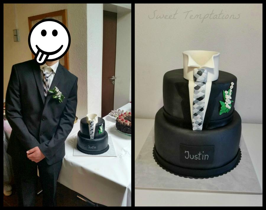 Tuxedo Confirmation Cake Cakecentral Com