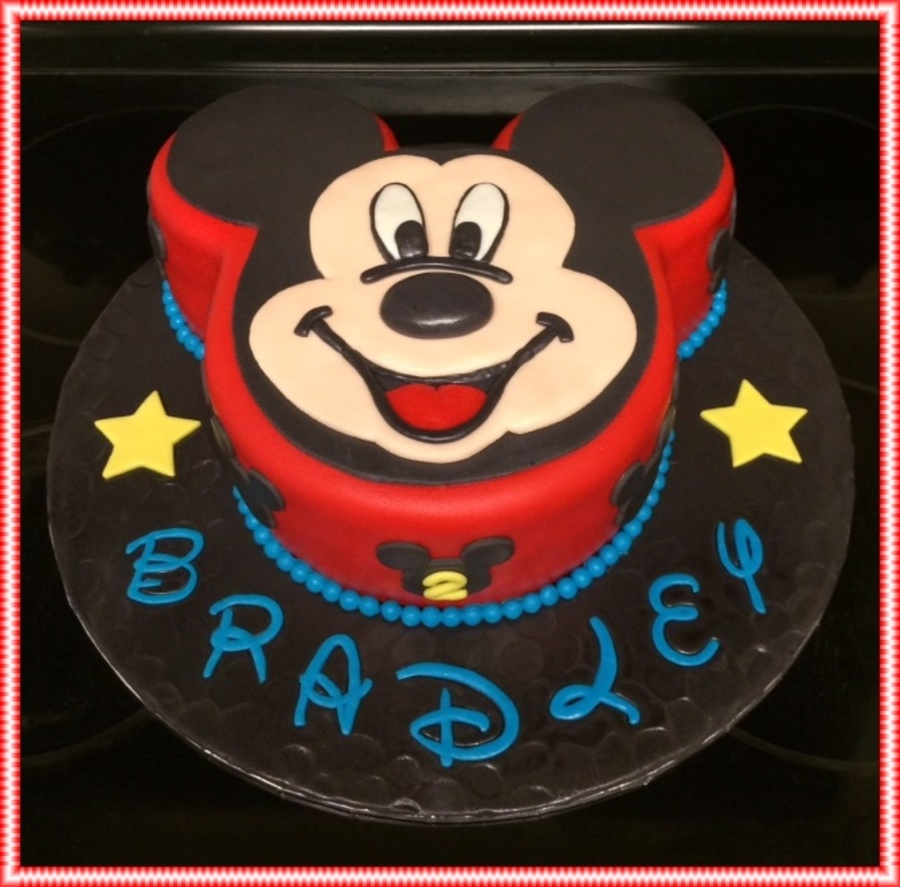Peachy Mickey Mouse 2Nd Birthday Cake Cakecentral Com Funny Birthday Cards Online Elaedamsfinfo