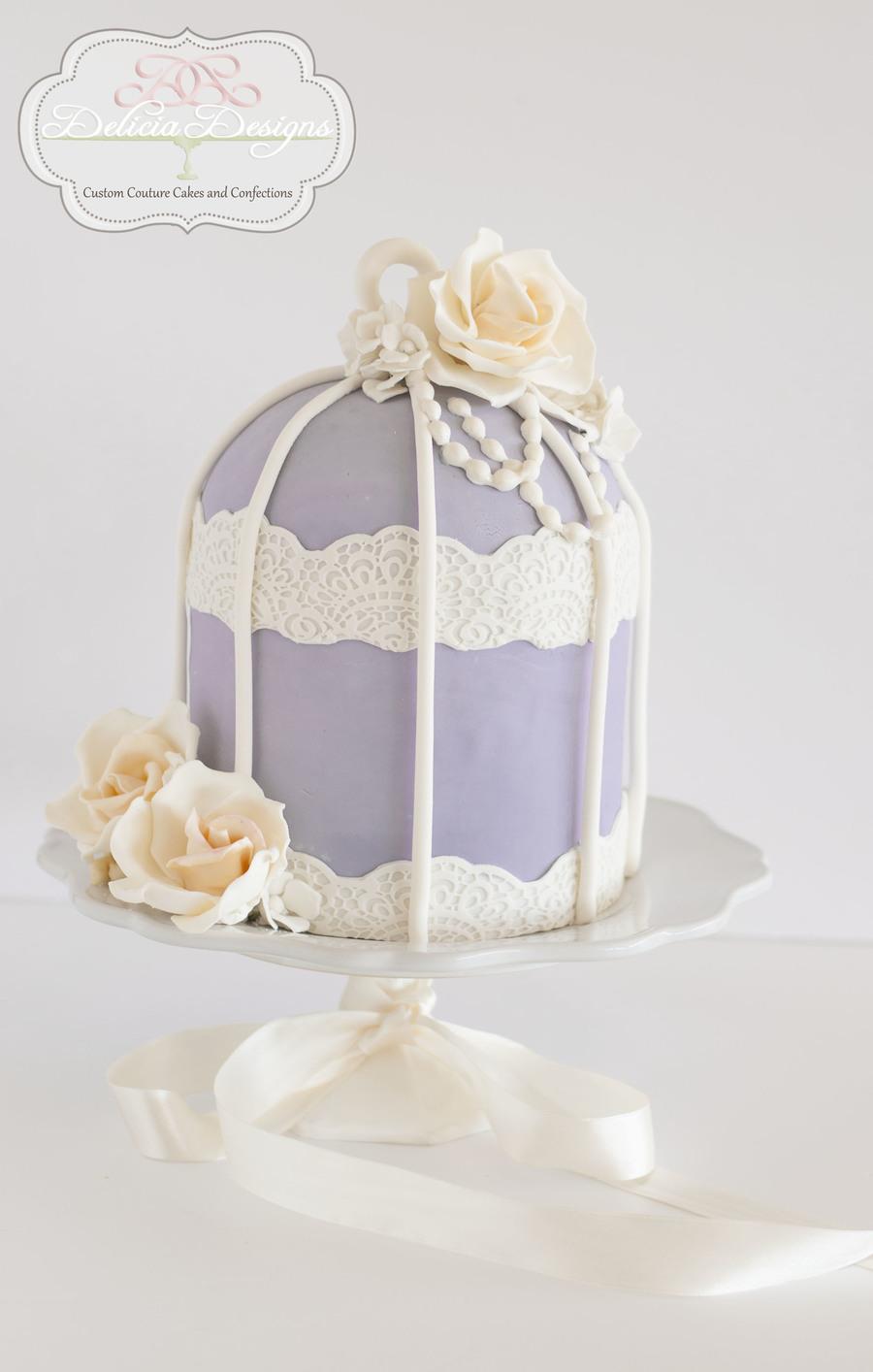 Lavender Birdcage - CakeCentral.com