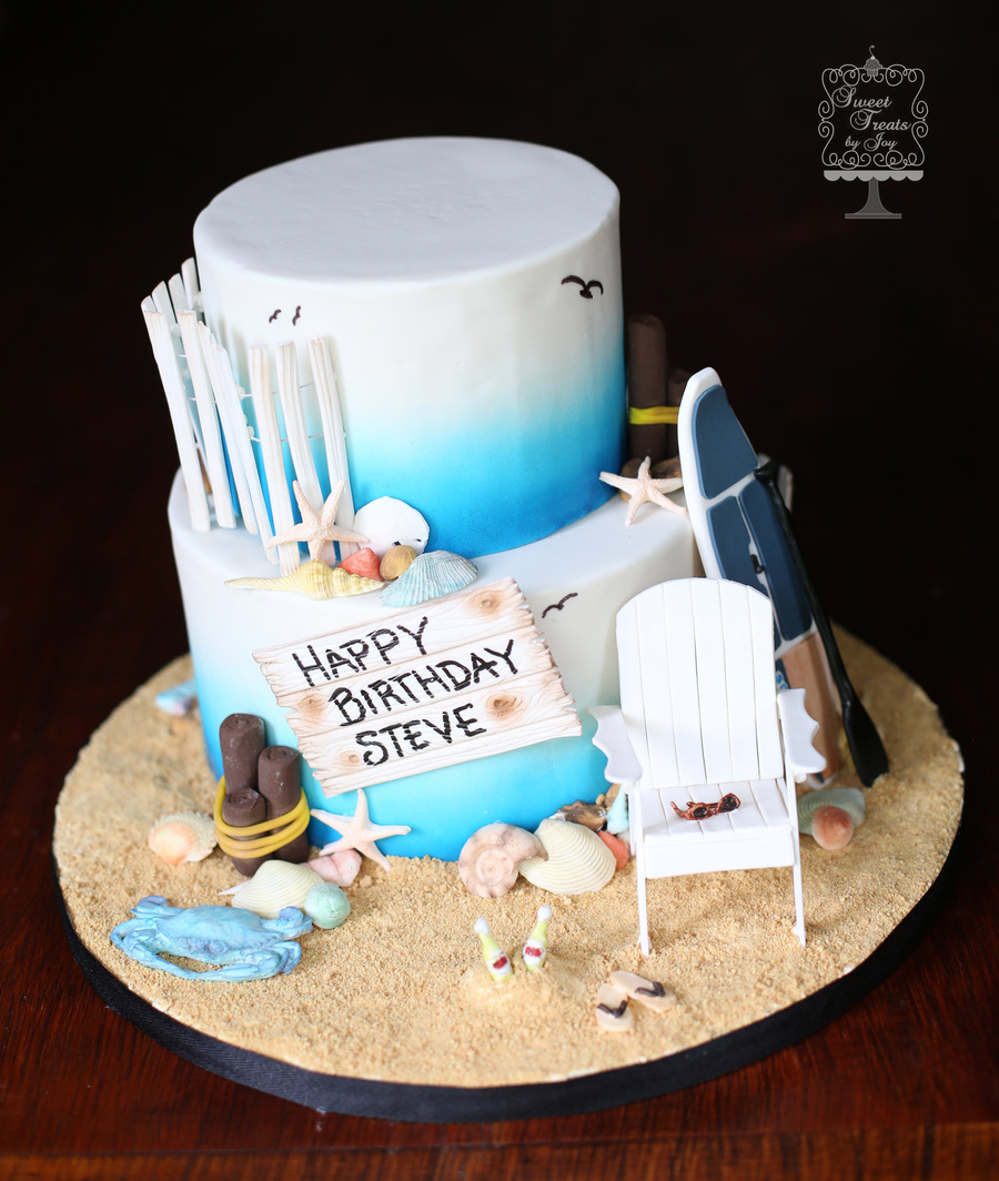 Beach Cake With Paddle Board Cakecentral Com