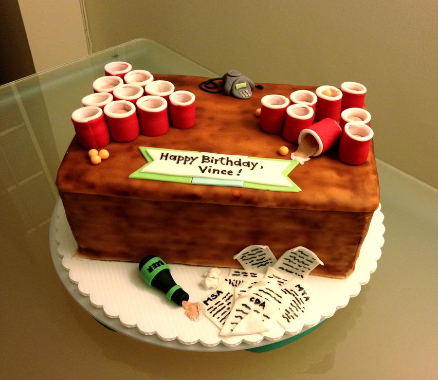 Birthday Cake Beer Pong