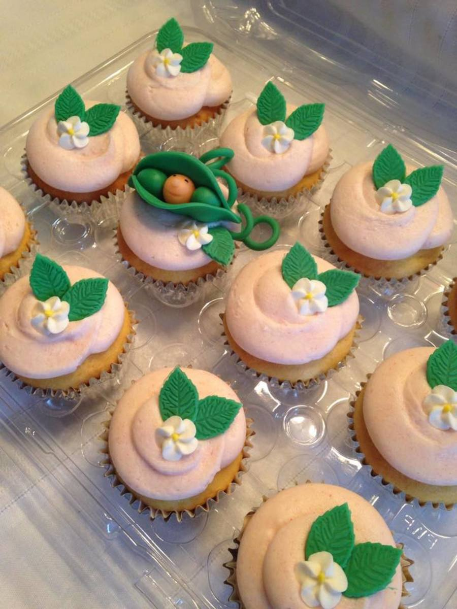 Sweet Pea Baby Shower Cupcakes on Cake Central