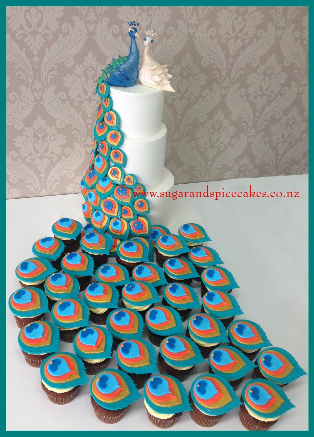 Theme Cake Make With Cupcakes