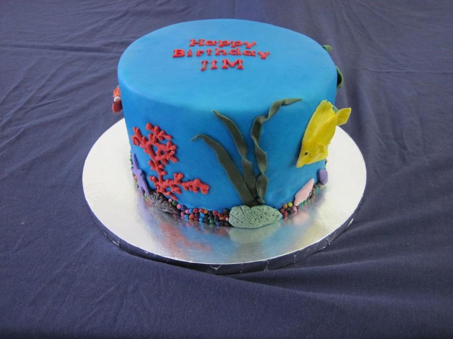 Tremendous Aquarium Theme Birthday Cake Cakecentral Com Funny Birthday Cards Online Necthendildamsfinfo
