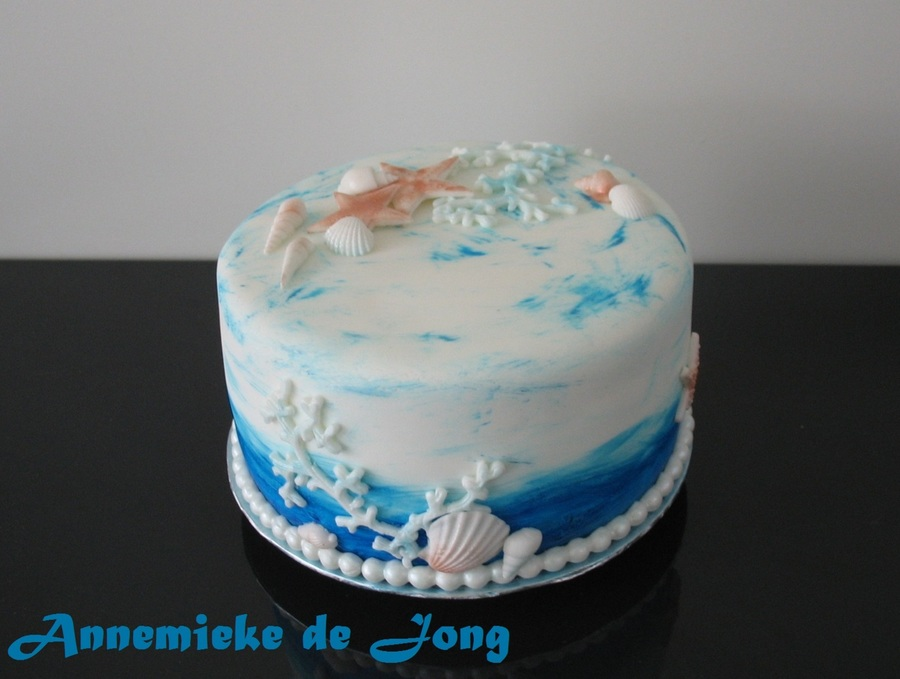 Beach Theme Birthday Cake Cakecentral