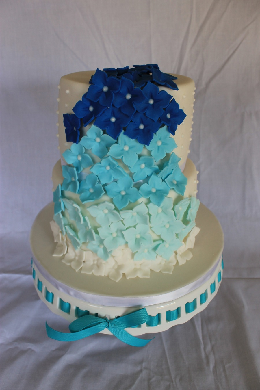 blue ombre wedding cake blue ombre wedding cake cakecentral 11997