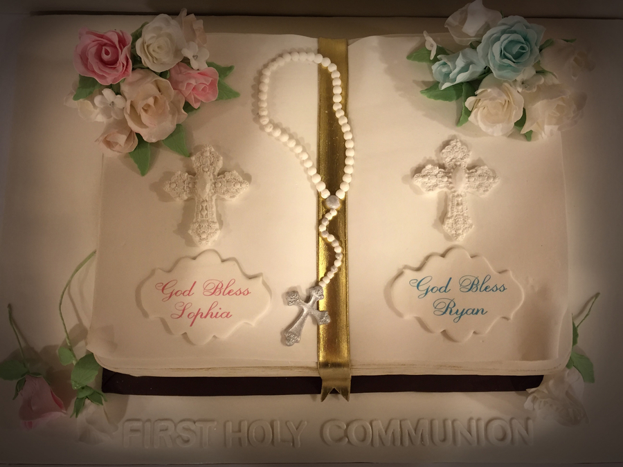 Communion Open Bible Cake Cakecentral Com